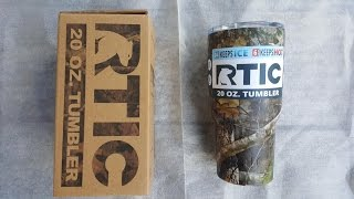 unboxing camo 20 oz rtic tumbler splashproof lid