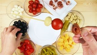Антипасто на шпажке - Рецепты от Со Вкусом