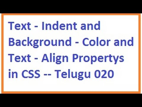Text indent and background color and text align propertys for Table th font color css