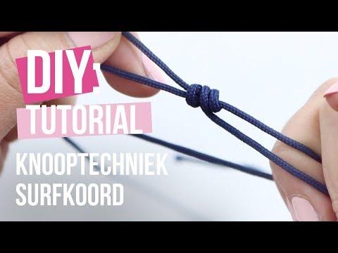 Sieraden maken: Knooptechniek surfkoord ♡ DIY