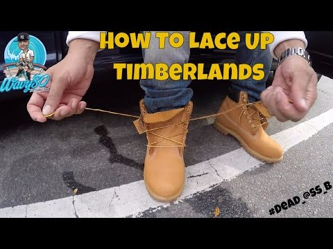 HOW TO LACE TIMBERLANDS!!! YouTube