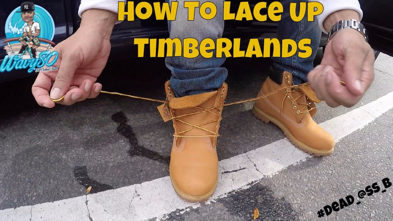 934bfb735f3a HOW TO LACE TIMBERLANDS!!! - YouTube
