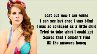 Repeat youtube video Lana Del Rey - Born to Die Lyrics Video