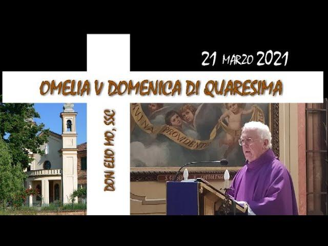 21 marzo 2021 - V domenica di Quaresima anno B