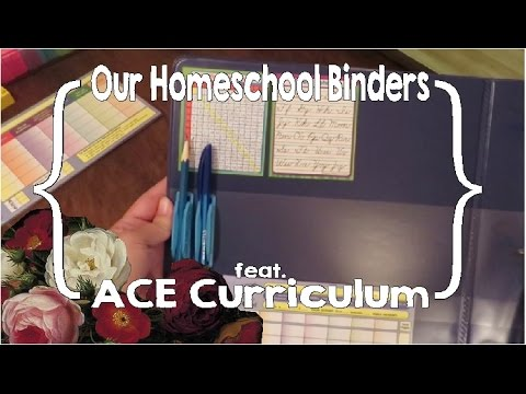 Our Homeschool Binders (featuring Accelerated Christian Education [ACE] Curriculum)