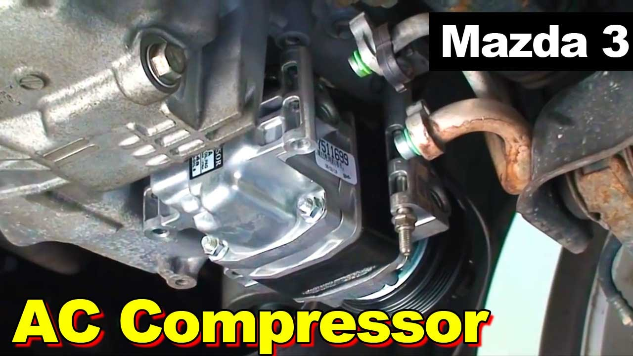 2007 Gmc Sierra Radio Wiring Diagram 2004 2009 Mazda 3 Ac Compressor Non Turbo Youtube