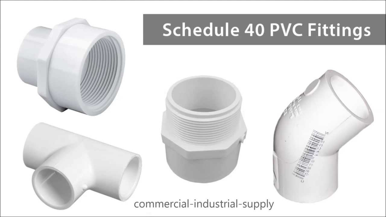Schedule pvc fittings youtube