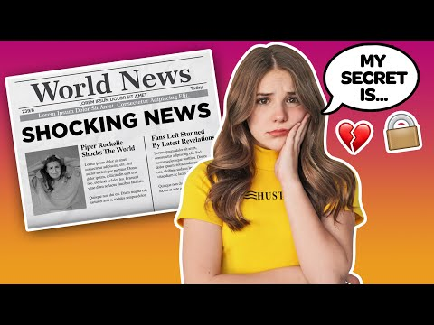 My Crush REACTS To SHOCKING NEWS **Emotional SECRET REVEALED** 🌺 | Piper Rockelle