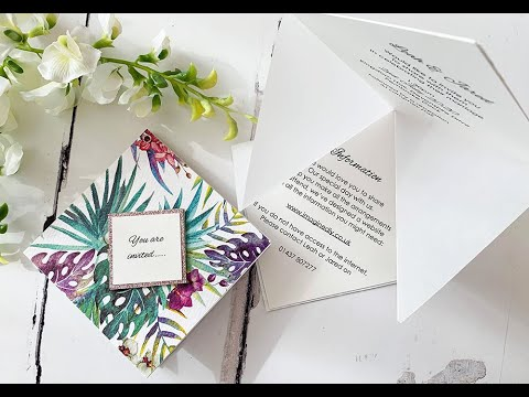 How to Make your own Pop-Up Wedding Invitation Origami Style – Low cost DIY invitations
