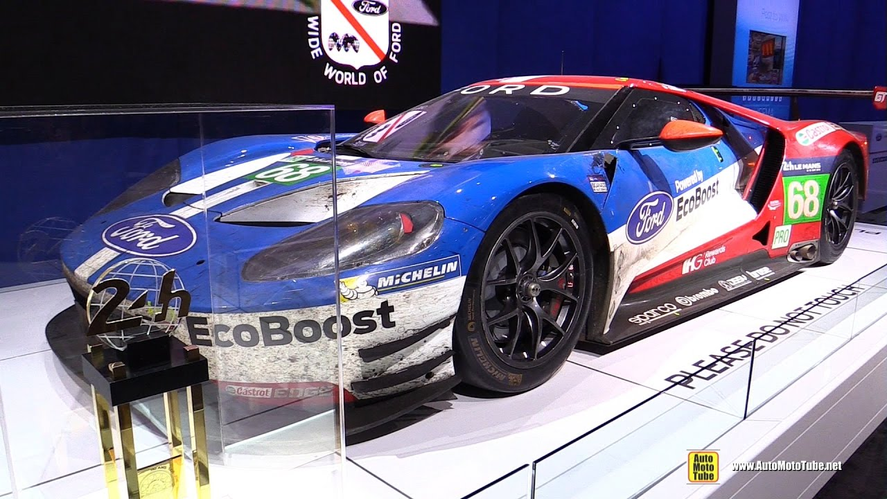 Ford Gt Le Mans  Winner Race Car Walkaround Sema