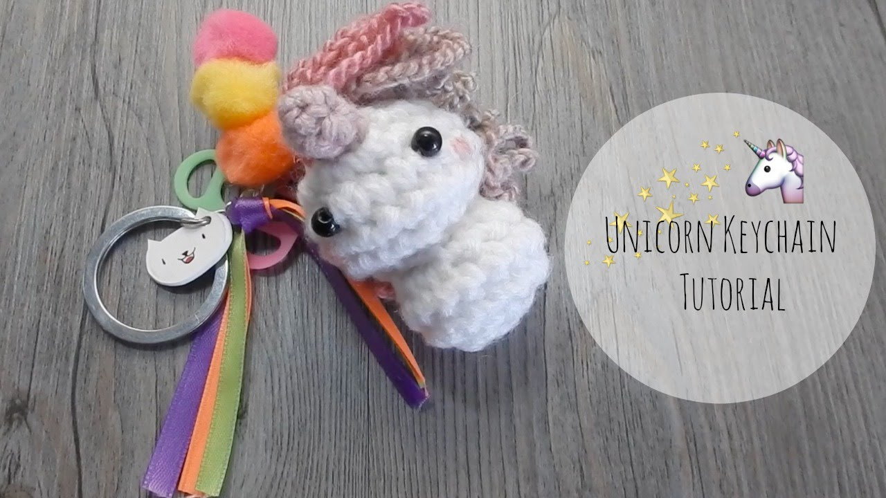 Amigurumi Crochet Keychain : Amigurumi how to make unicorn keychain tutorial youtube