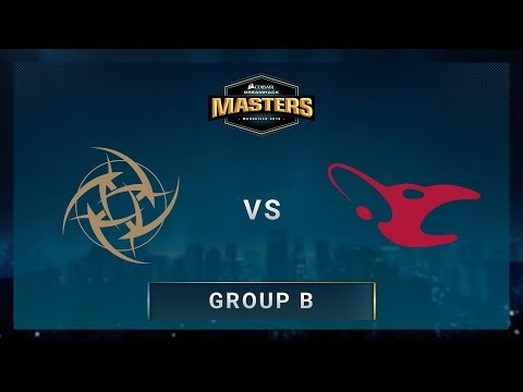 NiP vs Mousesports - Train - CORSAIR DreamHack Masters Marseille 2018
