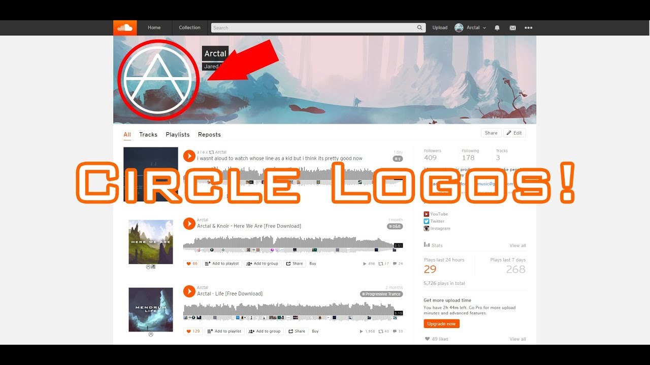 how to make you soundcloud profile and banner perfectly fit updated circle logos psd youtube. Black Bedroom Furniture Sets. Home Design Ideas