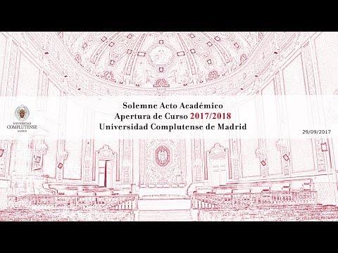 Solemne Acto de Apertura de Curso 2017 /2018. UCM