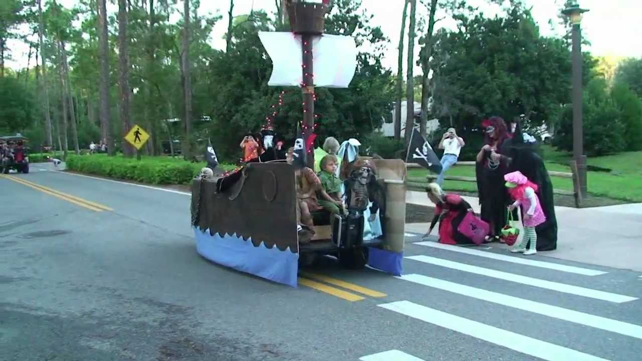 halloween golf cart parade highlights at fort wilderness campground 2011 walt disney world