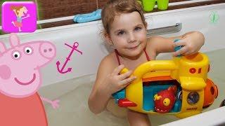 Свинка пепа новые серии игрушки для ванной желтая подводная лодка игрушки mothercare ELC for kids