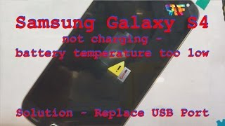 """Samsung Galaxy S4 - How to fix """" Charging Paused - Battery temperature too low """" error"""