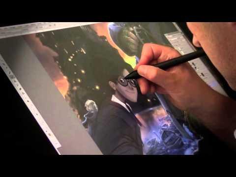 Jonny Duddle illustrating Harry Potter from J.K. Rowling's Harry Potter Books