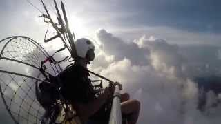 Relaxed Paramotor Cloud Surfing