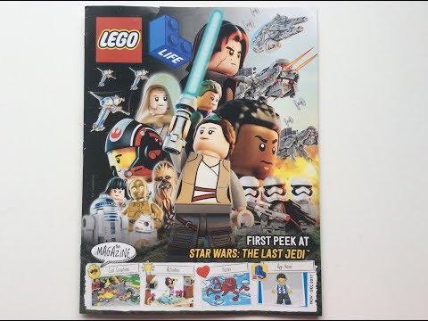 Lego Life Magazine Nov-Dec 2017 - Star Wars: The last Jedi.