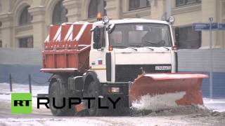 Russia: Major snowfall to continue hitting Moscow
