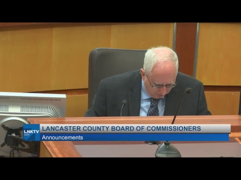 Lancaster County Board of Commissioners August 28, 2018