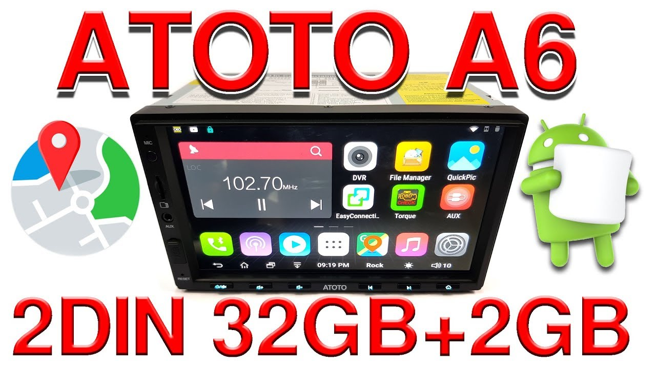 2-Din Android 6 0 Car Stereo 32gb+2gb ATOTO A6 2018