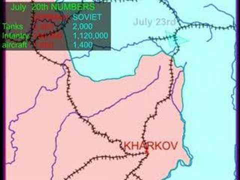 Battle Of Kursk YouTube - Kursk map