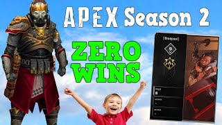 Nearly Season 2 and this kid has never Won a Game of Apex..