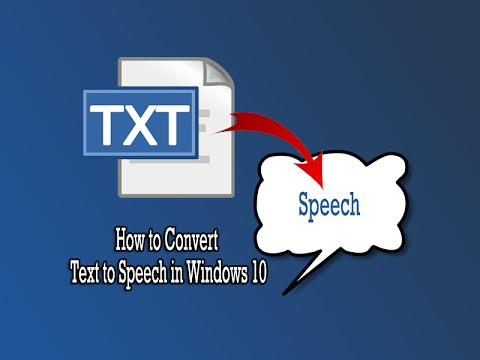 How to Convert Text to Speech in Windows 10