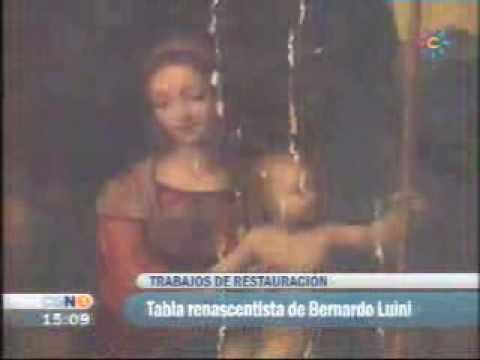 Tabla de Bernardino Luini, discípulo de Leornardo da Vinci