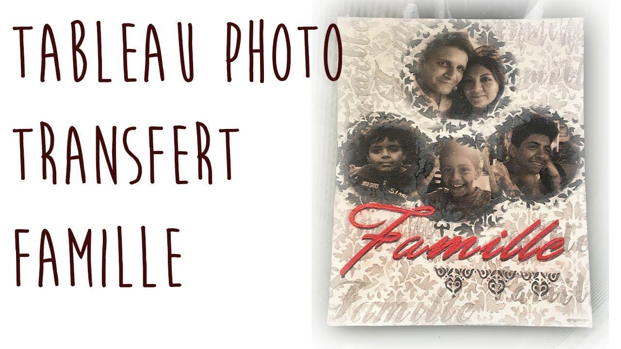 Tuto Peinture Acrylique Tableau Photo Transfert Famille Youtube