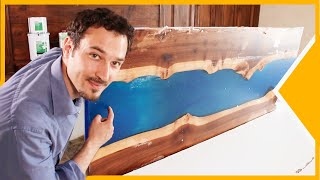 HOW TO BUILD A RIVER TABLE WITH EPOXY RESIN ?