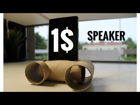 How to make a speaker with toilet paper rolls