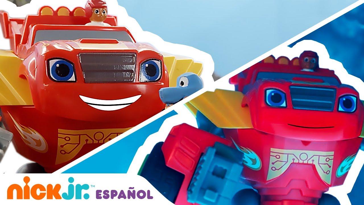 Download Blaze and the Monster Machines | ¡Blaze vs. los robots demoledores! | Nick Jr. en Español