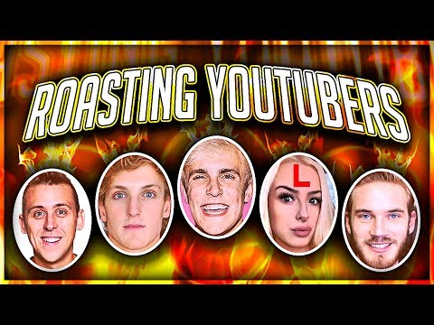 Thumbnail: ROASTING YOUTUBERS (Jake Paul, Logan Paul, Roman Atwood, AND MORE)