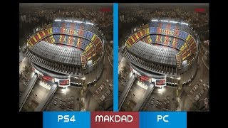 PES 2017 | Pro Evolution Soccer 2017 | PC vs. PS4 Graphics Comparison. Side By Side✅