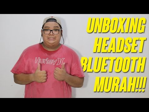 UNBOXING HEADSET BLUETOOTH MURAH