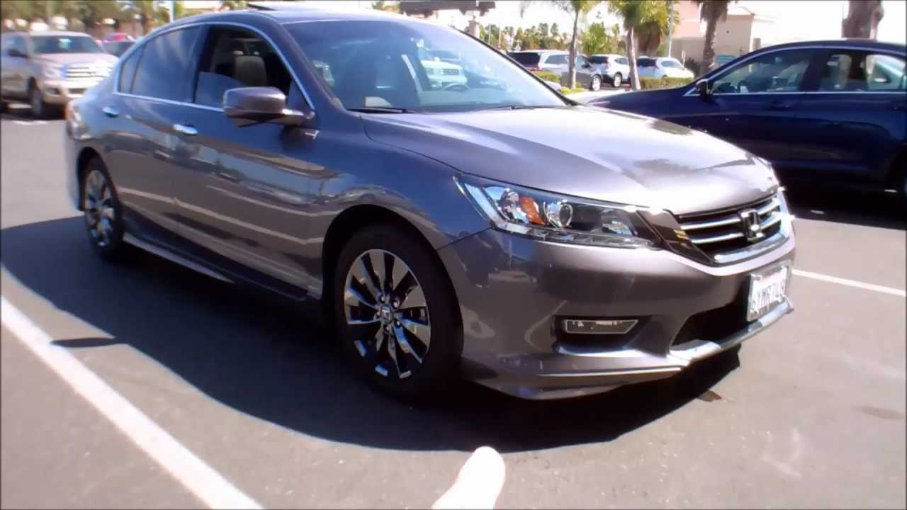 13 accord EX-L v6 with chrome wheels and ground effects Modern Steel Metalic - YouTube