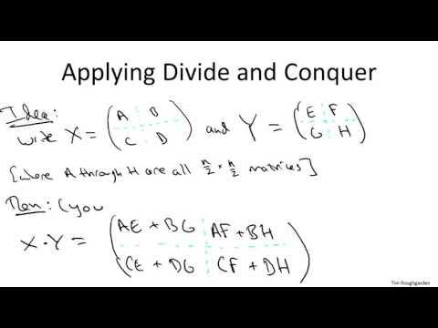 3   3   Strassen 's Subcubic Matrix Multiplication Algorithm 22 min