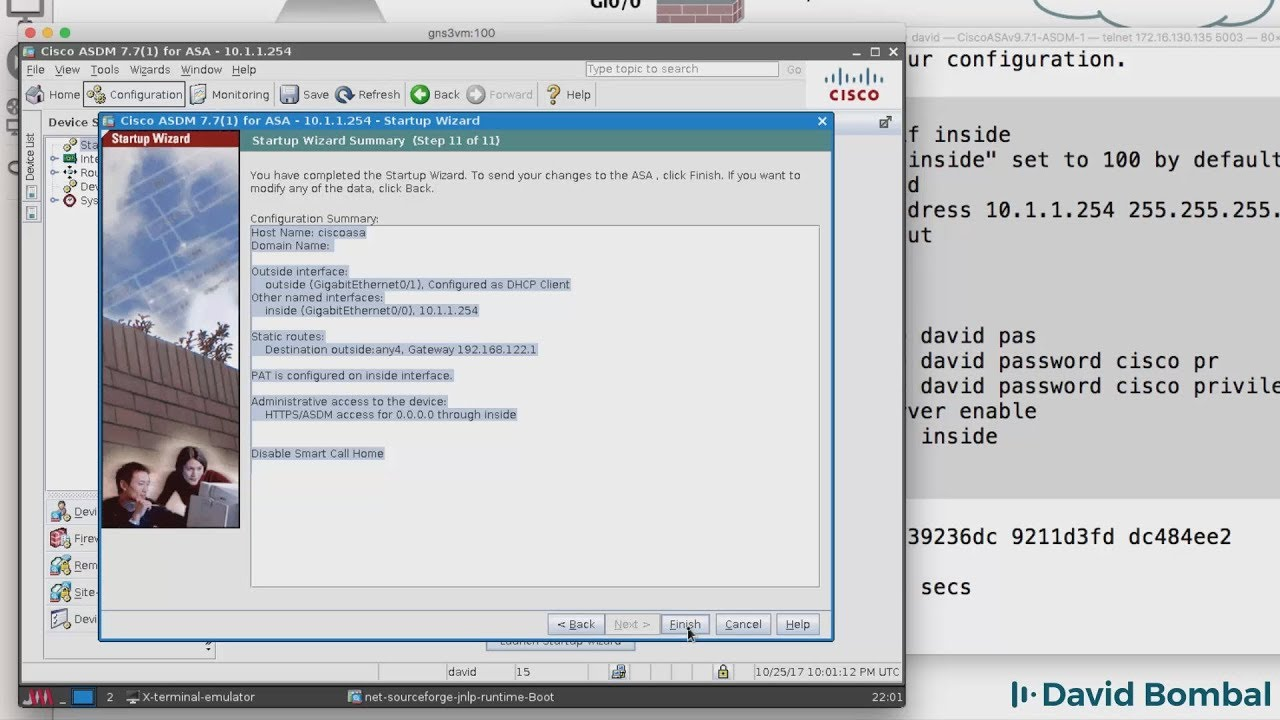 GNS3, Cisco ASA and ASDM: Configure VIRL ASAv firewall with GNS3 and ASDM  (Part 5)