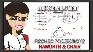Fischer to Haworth and Chair for Glucose and Fructose (Vid 5 of 5)