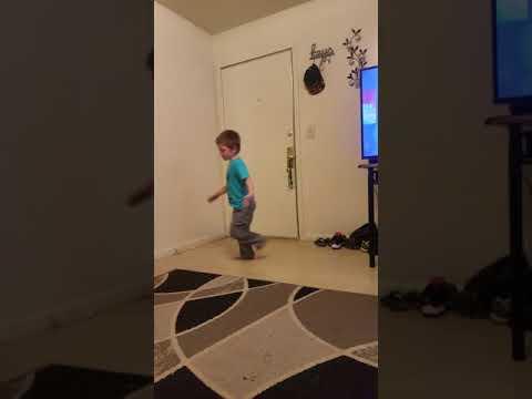 My son dancing