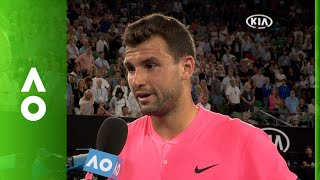 Grigor Dimitrov on court interview | Australian Open 2018