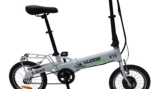 Ebike Electric Bike Review Kudos K16 folding bike Throttle
