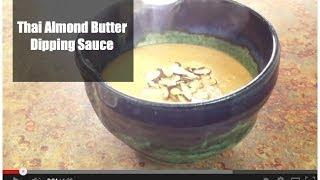 Thai Almond Butter Dipping Sauce {satay}