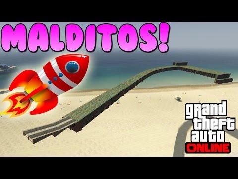 MALDITOS COHETES!!! - Gameplay GTA 5 Online Funny Moments (Carrera GTA V ...