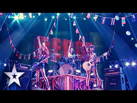 "Female Rockers Bebop Cover ""Foot Loose""   Asia's Got Talent Semis 2"