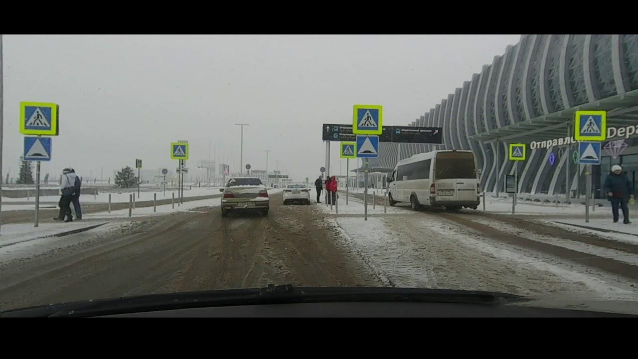 Зима.  Аэропорт Симферополя #дорога в аэропорт #crimrataxi #таксипокрыму