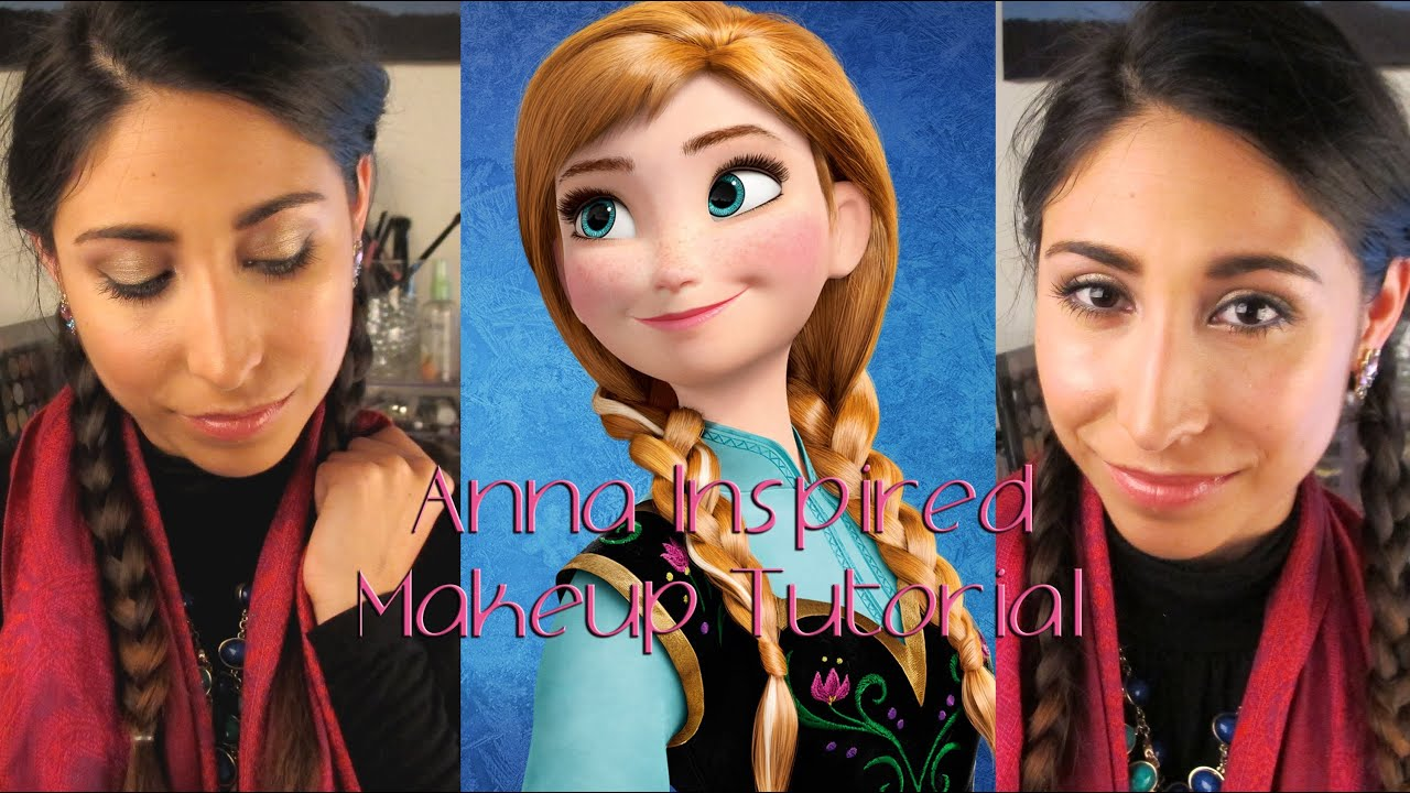 Inspired by disney frozens anna makeup tutorial youtube baditri Image collections
